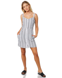 GREY WHITE STRIPE WOMENS CLOTHING ELWOOD DRESSES - W91702-14M