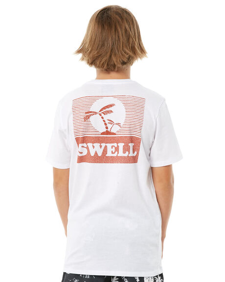 WHITE KIDS BOYS SWELL TOPS - S3184003WHITE