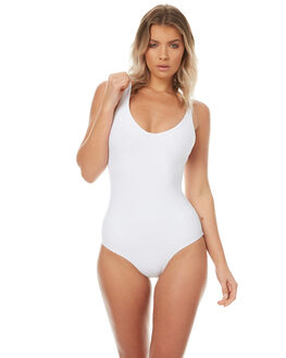 WHITE WOMENS SWIMWEAR ASSEMBLY ONE PIECES - A-SWIM-10WHT