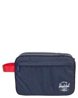 NAVY RED MENS ACCESSORIES HERSCHEL SUPPLY CO BAGS + BACKPACKS - 10533-00018-OSNVRD