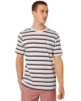 WHITE STRIPE MENS CLOTHING BARNEY COOLS TEES - 100-CR3WSTRP