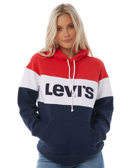 RED WHITE WOMENS CLOTHING LEVI'S JUMPERS - 52441-0000REDW