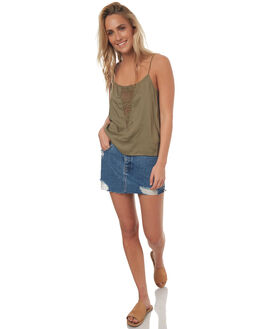 VINTAGE INDIGO WOMENS CLOTHING RVCA SKIRTS - R272833VNT