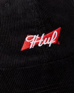 BLACK MENS ACCESSORIES HUF HEADWEAR - HT00367BLK