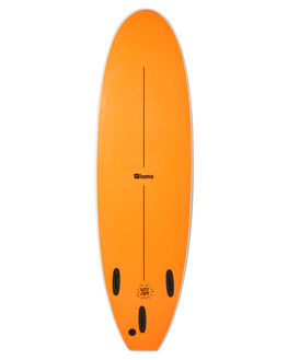 WHITE FLURO ORANGE BOARDSPORTS SURF FOAMIE SOFTBOARDS - F6WWWHFOR