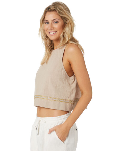 FEATHER GREY OUTLET WOMENS RUSTY FASHION TOPS - WSL0638FTG