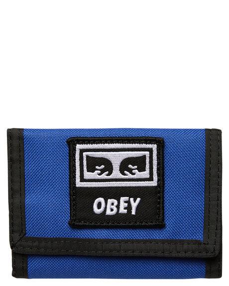 BLUE MENS ACCESSORIES OBEY WALLETS - 100010122BLU