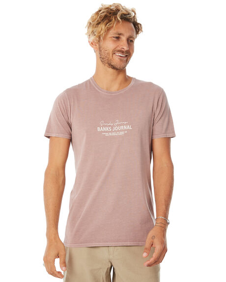 PALE MAUVE MENS CLOTHING BANKS TEES - WTS0285PMV