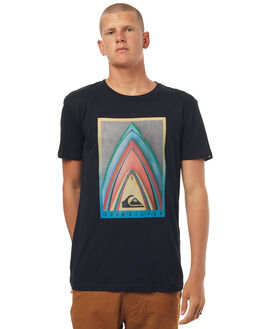 BLACK MENS CLOTHING QUIKSILVER TEES - EQYZT04544KVJ0