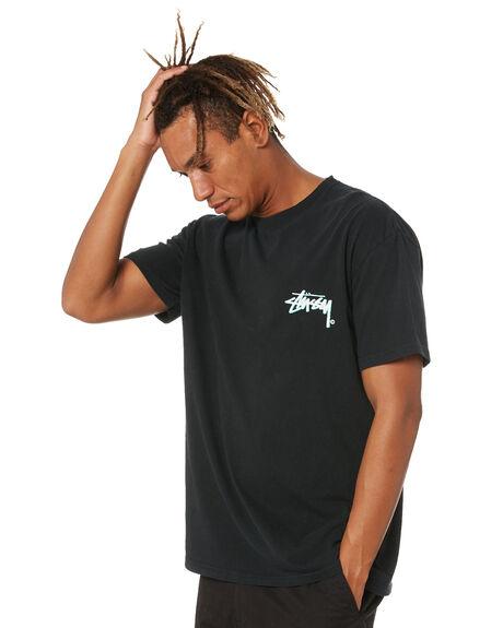 PIGMENT BLACK MENS CLOTHING STUSSY TEES - ST016002PGBLK