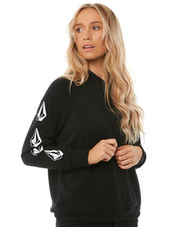 BLACK WOMENS CLOTHING VOLCOM JUMPERS - B3141710BLK