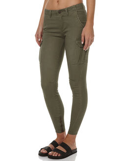 DUSTY OLIVE WOMENS CLOTHING BILLABONG PANTS - 6565414OLI