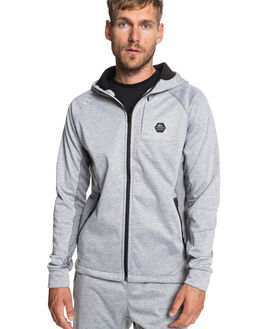 LIGHT GREY HEATHER OUTLET MENS QUIKSILVER JUMPERS - EQYFT03974-SJSH