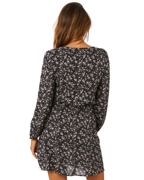 BLACK WOMENS CLOTHING RUSTY DRESSES - DRL1079-BLK