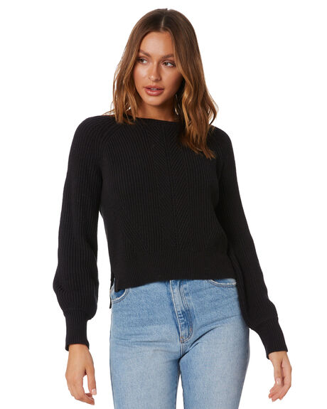 WASHED BLACK WOMENS CLOTHING RIP CURL JUMPERS - GSWHB18264