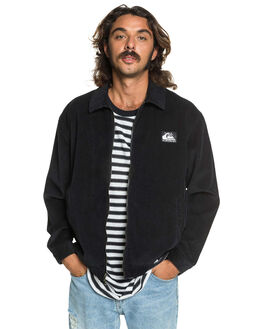 BLACK MENS CLOTHING QUIKSILVER JACKETS - EQYJK03547-KVJ0