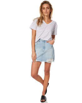 BLEACH STONE WOMENS CLOTHING A.BRAND SKIRTS - 70915-1066