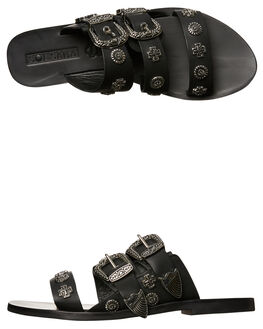 BLACK WOMENS FOOTWEAR SOL SANA FASHION SANDALS - SS172S391BLK