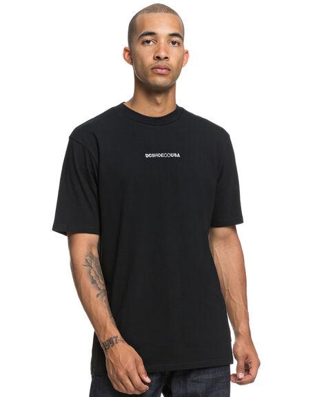 BLACK MENS CLOTHING DC SHOES TEES - UDYZT03527KVJ0