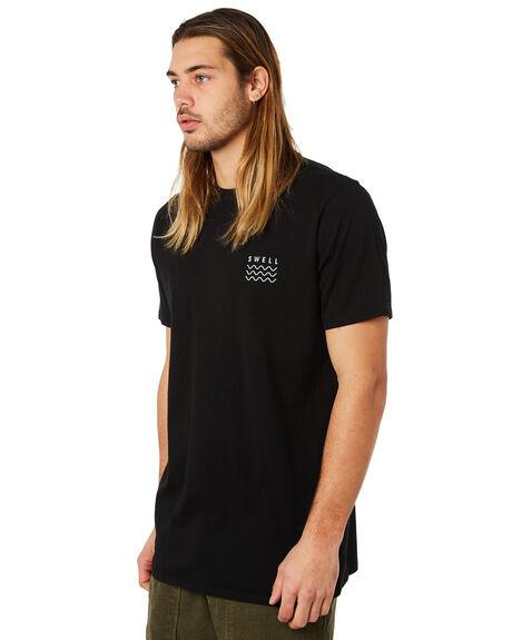 BLACK MENS CLOTHING SWELL TEES - S5184023BLACK