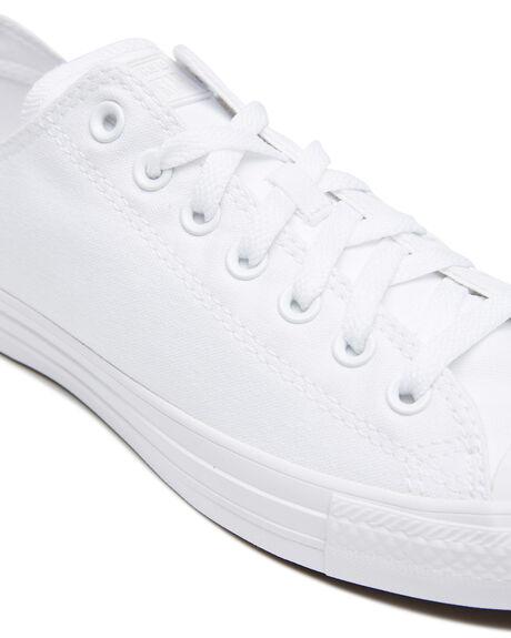 WHITE MONOCHROME WOMENS FOOTWEAR CONVERSE SNEAKERS - SS1U647WHTMW