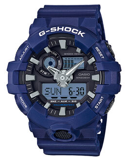BLUE BLACK MENS ACCESSORIES G SHOCK WATCHES - GA700-2ABLBLK