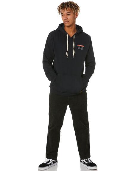 BLACK MENS CLOTHING DEPACTUS JUMPERS - D5211444BLACK