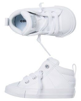 WHITE KIDS BOYS CONVERSE FOOTWEAR - 765597CWHT