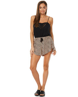 LEOPARD PRINT WOMENS CLOTHING THE FIFTH LABEL SHORTS - TX170335P-PRT2LEO