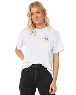 WHITE WOMENS CLOTHING STUSSY TEES - ST185016WHT