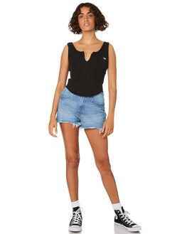 VINTAGE BLACK WOMENS CLOTHING LEE SINGLETS - L-651705-602