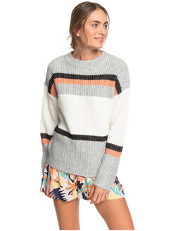 HERITAGE HEATHER WOMENS CLOTHING ROXY KNITS + CARDIGANS - ERJSW03392-SGRH