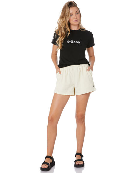 BLACK WOMENS CLOTHING STUSSY TEES - ST105000BLK