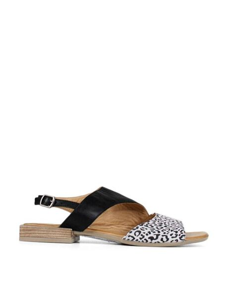 WHITE LEOPARD WOMENS FOOTWEAR BUENO FASHION SANDALS - BUALYSSAWHTL