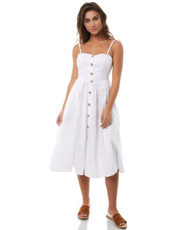 WHITE WOMENS CLOTHING FREE PEOPLE DRESSES - OB7701201100