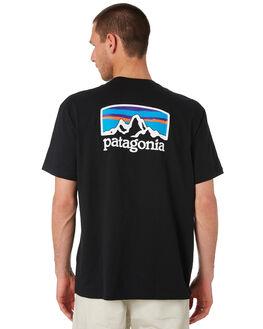 BLACK MENS CLOTHING PATAGONIA TEES - 38440BLK