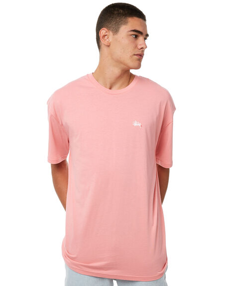 CANDY PINK MENS CLOTHING STUSSY TEES - ST071002CPNK