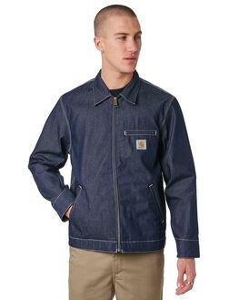 BLUE MENS CLOTHING CARHARTT JACKETS - I024846BLU