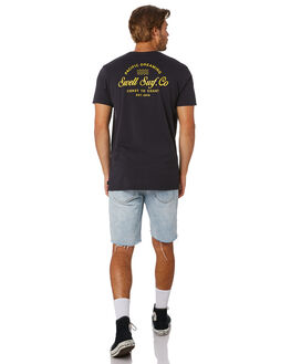 BLACK MENS CLOTHING SWELL TEES - S5202005BLACK
