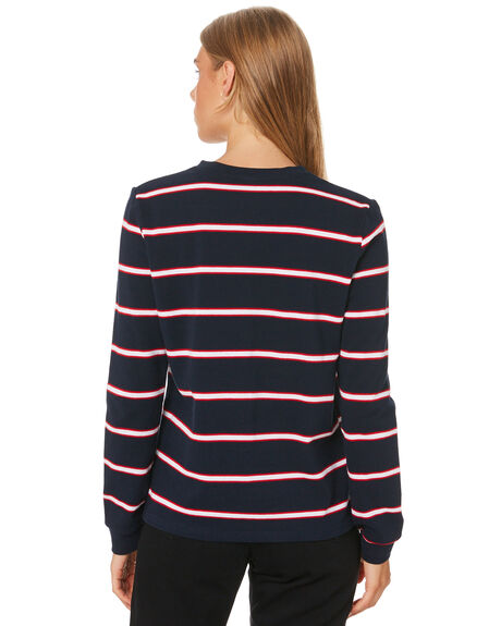 NAVY AND WHITE WOMENS CLOTHING HUFFER TEES - WLS01S7712NVWHT