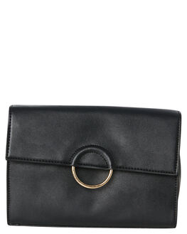 BLACK WOMENS ACCESSORIES THERAPY PURSES + WALLETS - SOLE-B0001BLK
