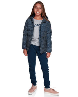 DRESS BLUES NEW DOTS KIDS GIRLS ROXY JUMPERS + JACKETS - ERGJK03061-BTK6