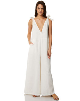 NATURAL LINEN WOMENS CLOTHING WILDE WILLOW PLAYSUITS + OVERALLS - K368-WWHT