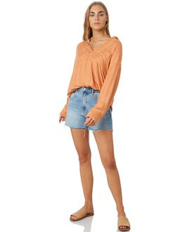 PEACH WOMENS CLOTHING RIP CURL FASHION TOPS - GSHNG90165