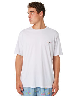 WHITE MENS CLOTHING BARNEY COOLS TEES - 106-CR4WHT