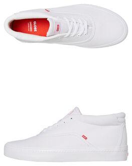 WHITE MENS FOOTWEAR GLOBE SKATE SHOES - GBSPROUTM-11058