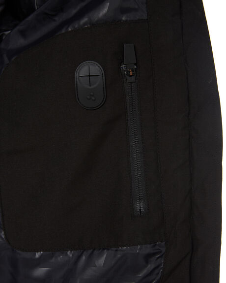 BLACK MENS CLOTHING HUFFER JACKETS - MPJA92S801BLK