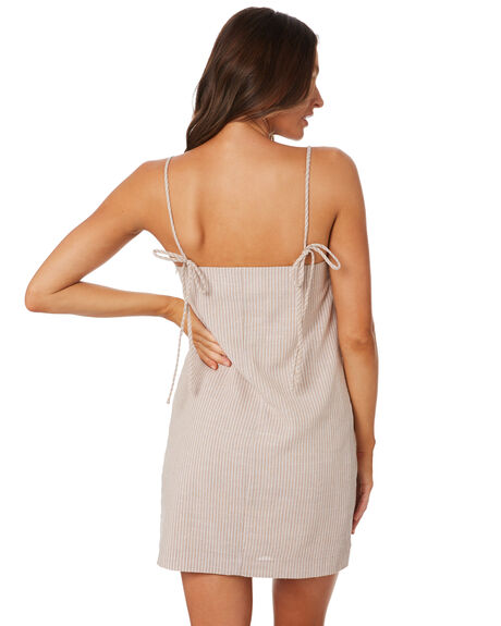 SAND STRIPE WOMENS CLOTHING NUDE LUCY DRESSES - NU23729SNDST