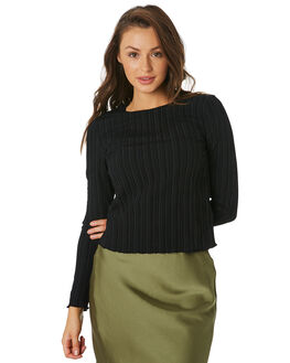 BLACK WOMENS CLOTHING THE FIFTH LABEL FASHION TOPS - 40190636BLK