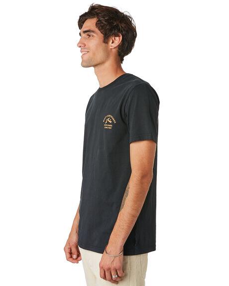 BLACK MENS CLOTHING RUSTY TEES - TTM2345BLK